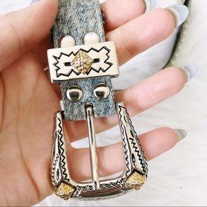 Vintage Accessories - //VINTAGE// Western Style Denim Belt